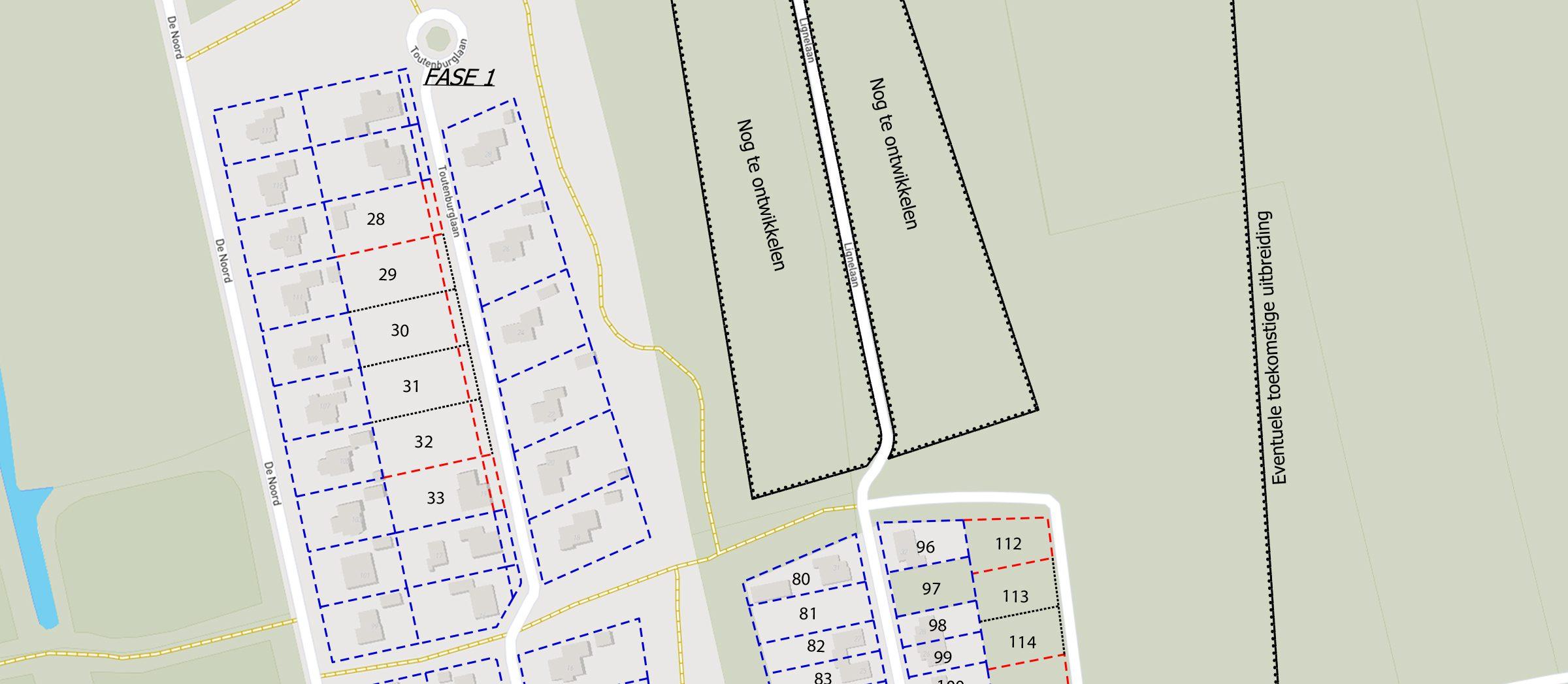 Roblespark kavelkaart fase1 - noord